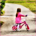 girl bike bicycle pink