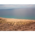 PortoSanto island Madeira Portugal dry beach high view holiday 2007 sea