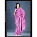 Magenta Viscose Saree with Blouse