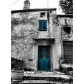 old house building architecture colours croatia labin