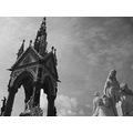 candy hell 666 london uk hyde park statue black white bw