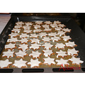 My Christmas pastries -- cinnamon-flavoured star-shaped biscuits