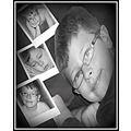 boy portrait elements bw son