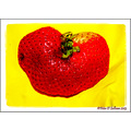 Strawberry Heart Red Yellow