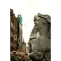 Gdansk Poland fountain sculpture smiling female