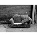 alley blackwhite bw garbage trash loveseat texture brick urban