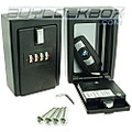 4 Digit Combination KeyCard Lock Box Wall Mounted