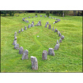 ship stones green grass viking monument old ancient antique history
