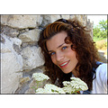 girl woman wife model face eyes stone wall portrait park Pleven Bulgaria