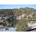 view from hotel room in Nainital