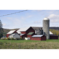 upstate newyork road autumn fall foliage barn farm house