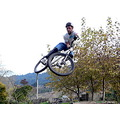 mtb boy mountainbike mountainbiker jump extreme sideways