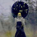 artistic portrait woman people macro paper doll mask yellow navy voltrik keit
