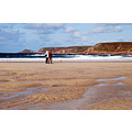 beach cornwall coast sand sea sky blue