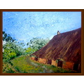 painting landscape old farm