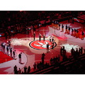 At 6:54pm-At the Air Canada Centre-Toronto Raptors playing Cleveland Cavaliers-Toronto,Ont.,On Sa...
