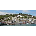 0208 Cornwall Looe UK Sea Coast Boat Moored Harbour