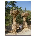 spain barcelona proverbmonday gaudi guel people spaix barcx archs views peopx