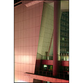 defense dexia building paris france night pink green