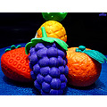 fruit rubber grape strawberry orange ananas macro archer