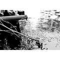 pipe water runningwater blackandwhite
