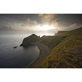 man o war bay lulworth cove durdle door dorset jurassic coast sunset sea clouds