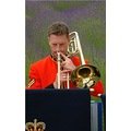 music band brass military people trombone flower lavender