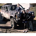 children jeep fun family boy girl dirty