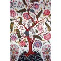 orientalrug flowers trees art rug