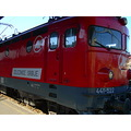 train rail Serbia holiday summer red