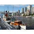 View of Burrard bridge from Granville Island Vancouver BC Canada