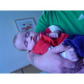 sleeping in daddys arms after a long afternoon .....   4/4
