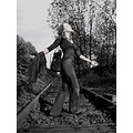 gothic train track woman Gliwice joy Poland