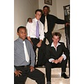 My Young son Niall and friends before Valentines Dance - Queen's College