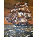 Sailing Ship portrait painting