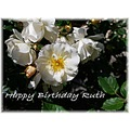 Happy Birthday Ruth and have a lovely day x x