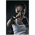 model boxer fighter potrait beauty