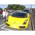 japan girl sports car yellow
