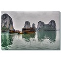 vietnam halong boat mountain reflectionthursday vietx halox watev boatv viewv