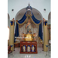 The statue of The Immaculate Heart of Mary in Burmarrad, Malta.