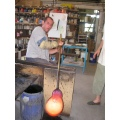 Glassblowing glassblower glassblow glass hautevienne france