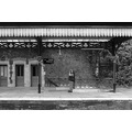 Sheila Malvern railway station monochrome train photographer