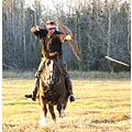 bow and arrow dude is very cool his horse nash too