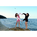 girl woman wife daughter portrait fun beach sea varna bulgaria heart