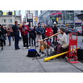 At 3:50pm.A youge fella doing his performance-outside the Eaton Centre-Yonge & Dundas St.,Toronto...