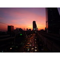 Bangkok Surasuk BTS sunset sky city