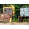 trucks rust corrosion decay overgrowth weeds
