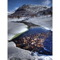Ice snow landscape river winter Norway