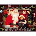 Family children holiday christmas santa