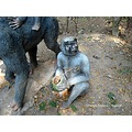 sculpture monkey haliyal fort park karnataka india